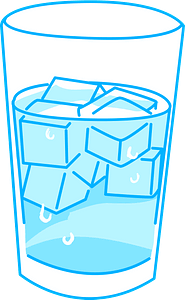 Glass of Ice Water clipart