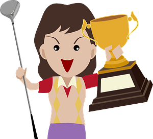 Golfer Victory clipart
