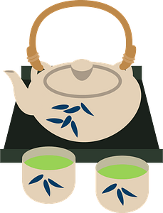 Green Tea Pot clipart
