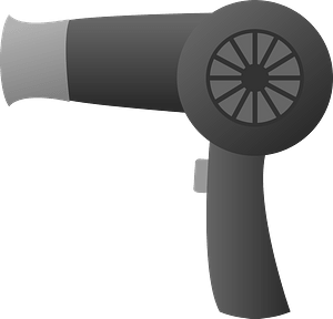 Hair Dryer - Grayscale clipart