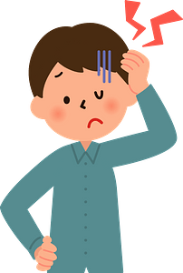 Boy with a Headache and Cold clipart