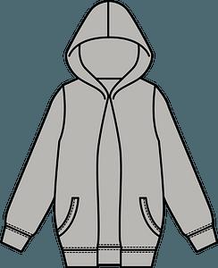 Hoodie Jacket clipart