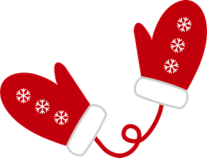 Red Mittens clipart