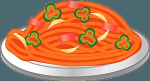 Naporitan Spaghetti - Ketchup Spaghetti clipart