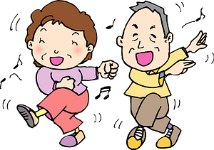 Old People are Dancing clipart