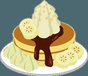 Banana Chocolate Pancake clipart