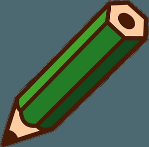 Green Pencil clipart
