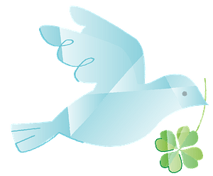 Pigeon is Holding Clover clipart