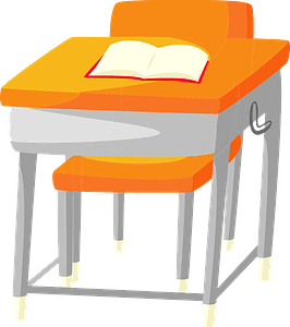 School Desk and Chair clipart