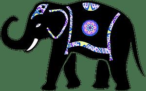 Ornamented Elephant clipart