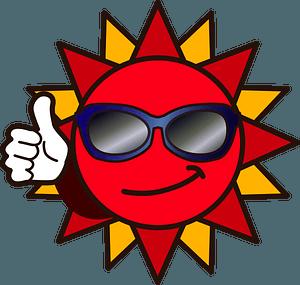 Sun Sunglasses clipart