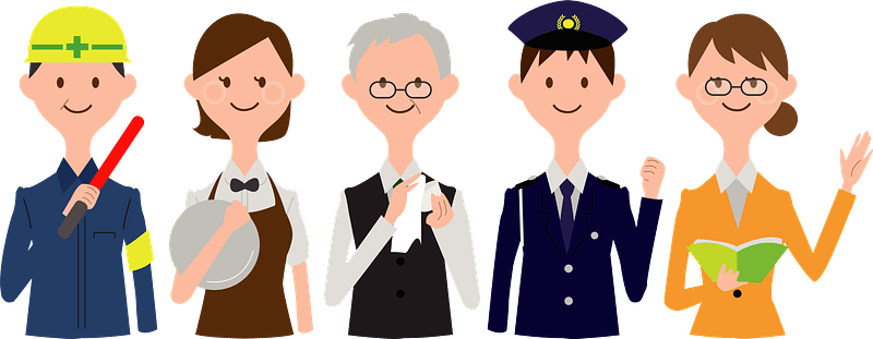 Workers Group of Different Professions clipart. Free download transparent .PNG | Creazilla