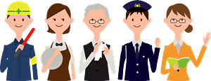 Workers Group of Different Professions clipart