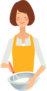(Mary) Woman is Cooking clipart