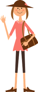 Woman is Traveling clipart