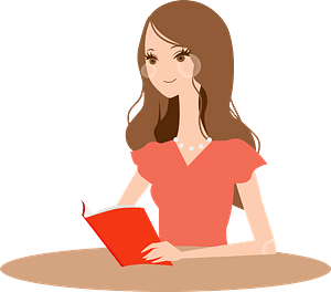 (Laurie) Woman is Reading a Book clipart