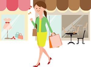 Woman is Shopping clipart