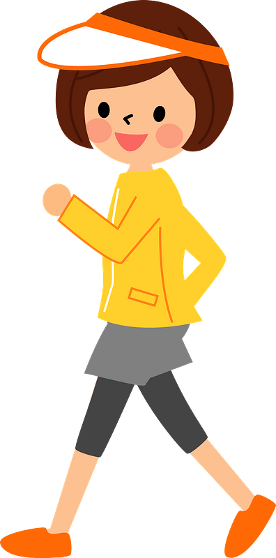 Woman is Walking for Exercise clipart. Free download ...