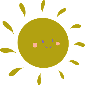 Sun with a face clipart