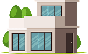 Flat Roof House clipart