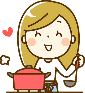 (Camilla) Woman is Cooking clipart