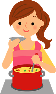 (Rosa) Woman is Cooking clipart
