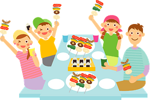 Family Barbecue Picnic clipart