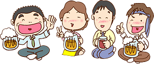 Business Drinking Party clipart