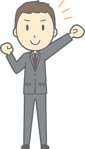 (Nathan) Businessman is Pumping a Fist clipart