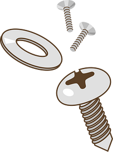 Screw Washer clipart