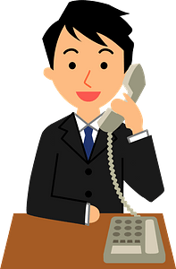 (Pete) Businessman is Talking on the Telephone clipart