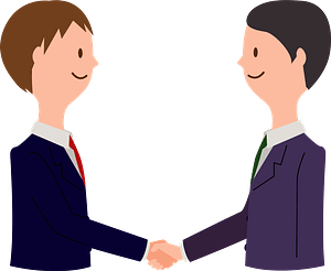 Businessmen are Shaking Hands clipart