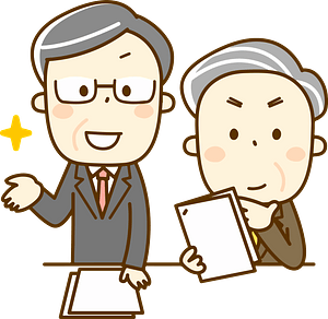 (Adam and Richard) Business Men are Meeting clipart
