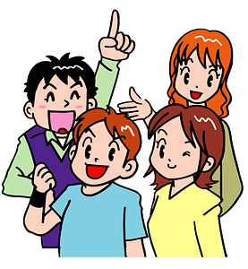 Four Young People clipart