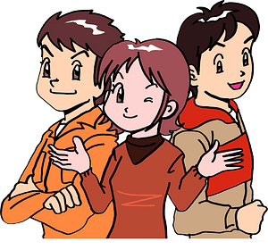 Three Young People clipart