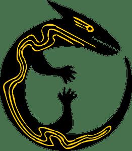 Stylised Lizard clipart