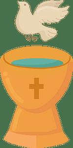 Catholic baptism clipart