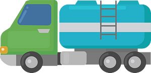 Water tanker clipart