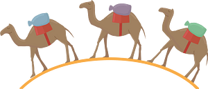Camel caravan 클립 아트