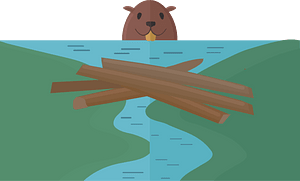 Beaver dam 클립 아트