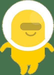 Yellow alien clipart