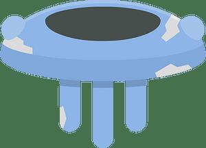 Blue saucer clipart