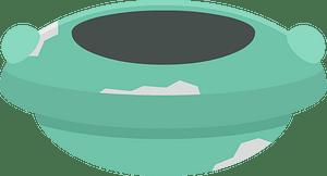 Green saucer clipart