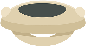 Grey saucer clipart