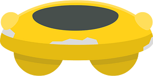 Yellow saucer clipart