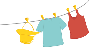 Clothes on a rope immagine clipart