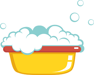 Bowl of foam clipart