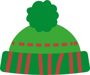 Green hat with bubo clipart