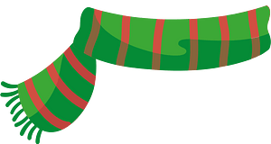 Green scarf clipart