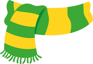 Green yellow scarf clipart